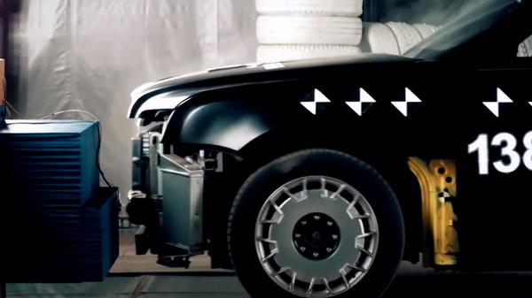 Опубликовано видео краш-теста автомобиля Aurus