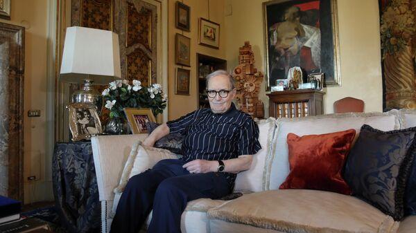 Итальянский композитор Эннио Морриконе