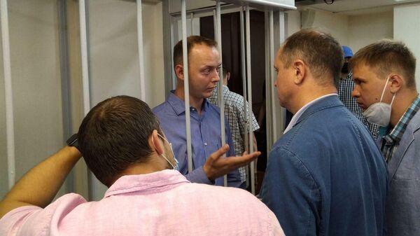 Советник главы Роскосмоса Иван Сафронов в Лефортовском суде Москвы