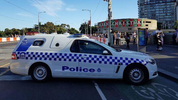 Полицейский автомобиль в Мельбурне, Австралия.