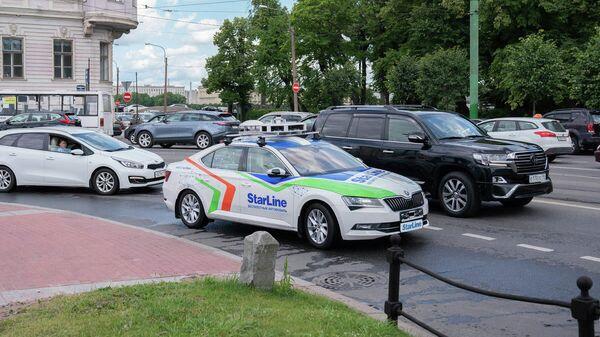 Беспилотный автомобиль StarLine на дорогах Санкт-Петербурга