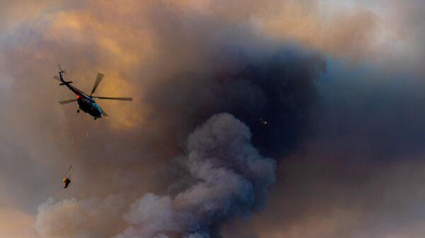 Военно-транспортная авиация помогает тушить пожары в Оренбургской области