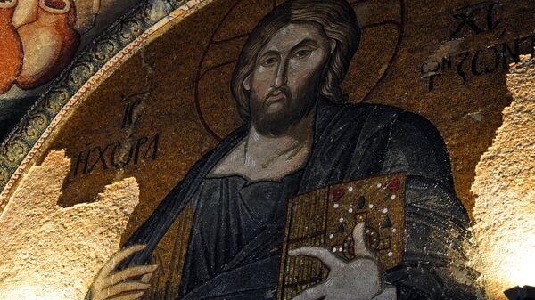 Мозаика в соборе Святой Софии в Стамбуле