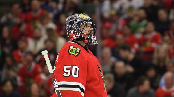 Голкипер клуба НХЛ Чикаго Блэкхокс Кори Кроуфорд