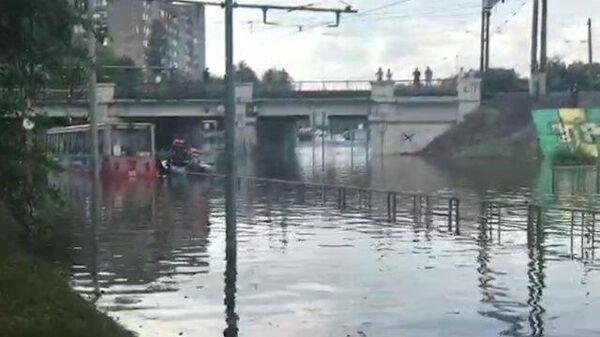 Потоп на улицах Краснодара. Кадры МЧС