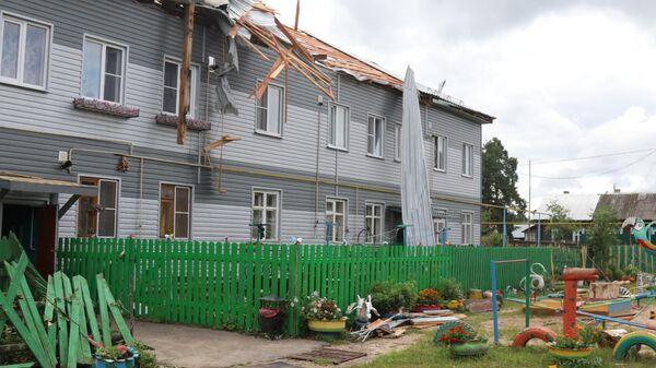 Последствия урагана в Рязанской области