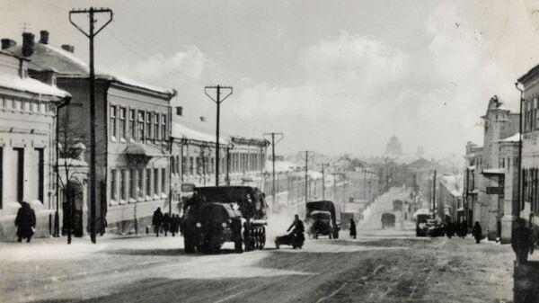 Немецкие войска на улице Ленина в Орле. 3 октября 1941