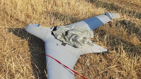Сбитый разведывательный беспилотник вооруженных сил Азербайджана