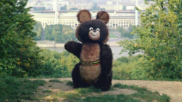 Мишка - талисман Олимпийских игр 1980 года, архивное фото