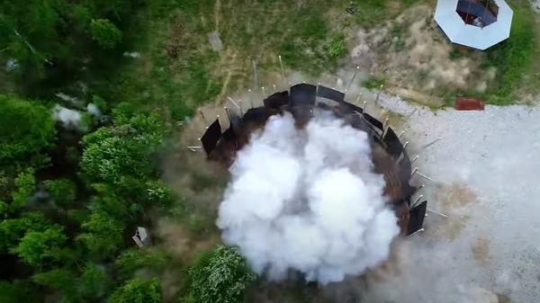Опубликовано видео испытаний новейшего снаряда для РСЗО