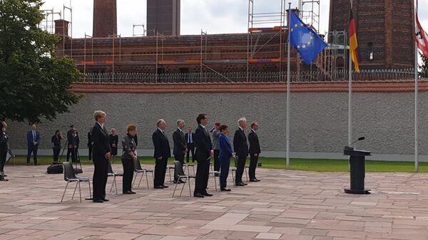 Участники торжественной церемонии памяти немецких участников Сопротивления и организаторов покушения на Гитлера
