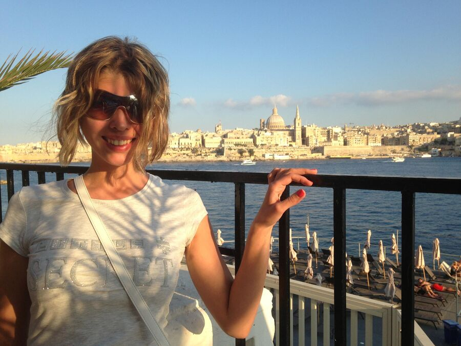 Наталья Майданова на Мальте