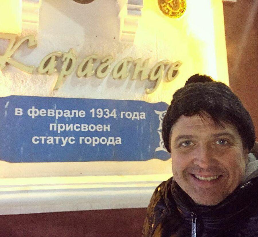 Актер Денис Матросов в Караганде