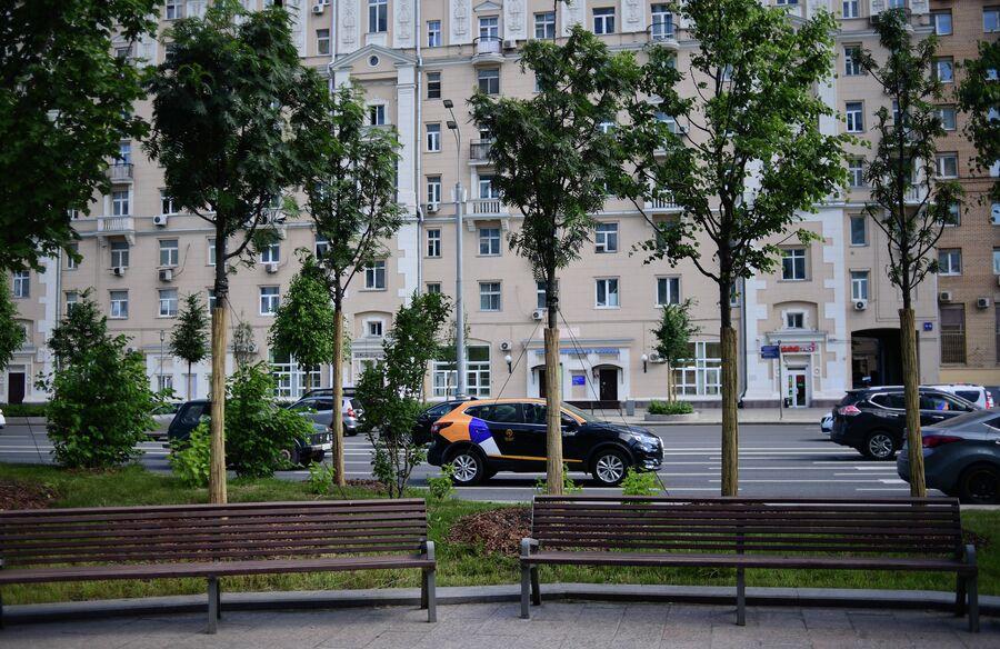 Благоустройство пешеходных зон на Садовом кольце