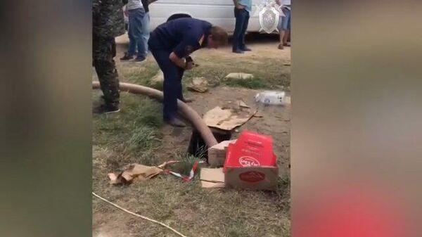 Следственные действия на месте обнаружения тела ребенка в Крыму