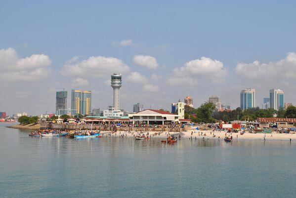 Вид на Дар-эс-Салам в Танзании