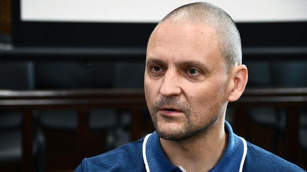 Координатор Левого фронта Сергей Удальцов в Мещанском суде города Москвы