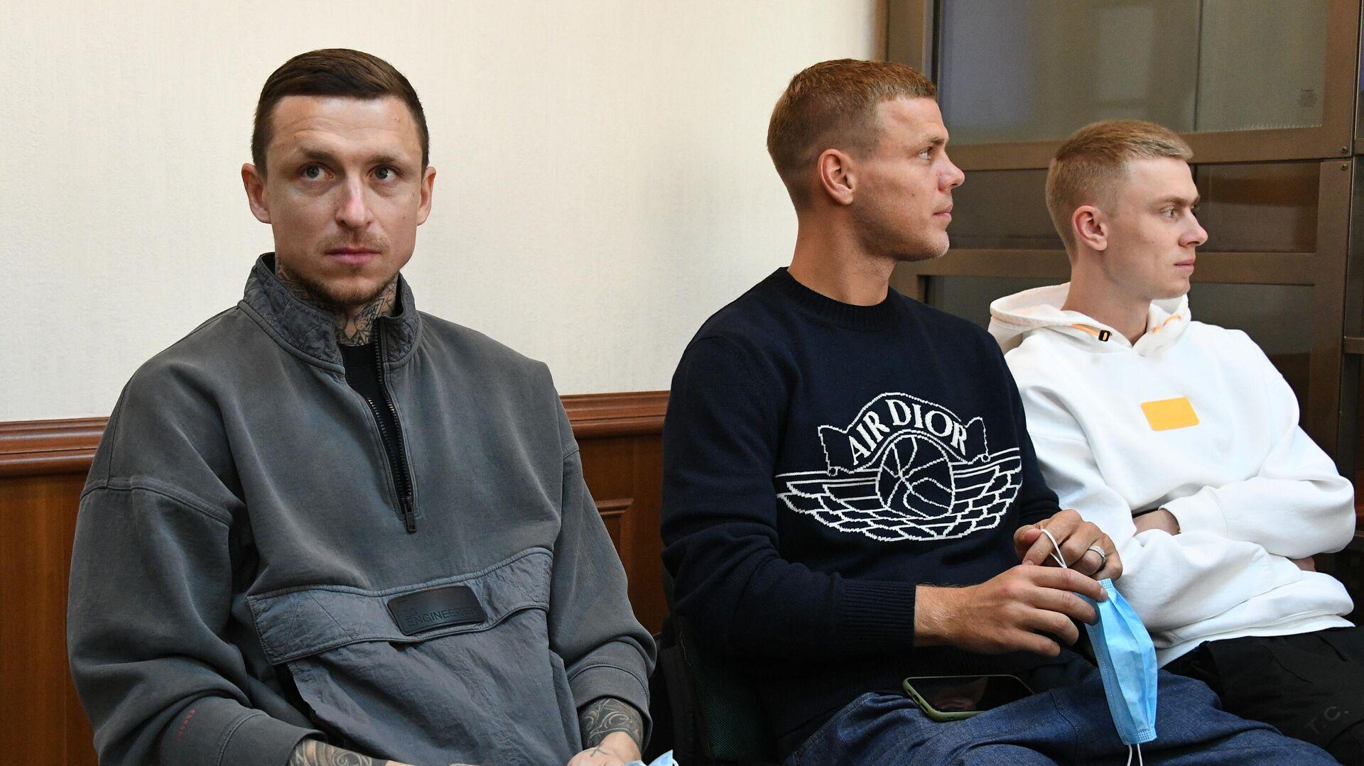 Павел Мамаев, Александр Кокорин и Кирилл Кокорин - РИА Новости, 1920, 03.12.2020