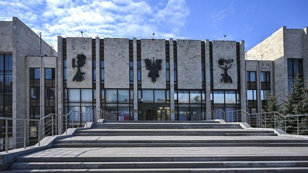 Здание Московского государственного института международных отношений Министерства иностранных дел Российской Федерации (МГИМО) в Москве