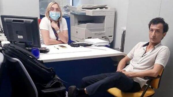 Захватчик и заложница внутри банка в здании бизнес-центра Леонардо в Киеве