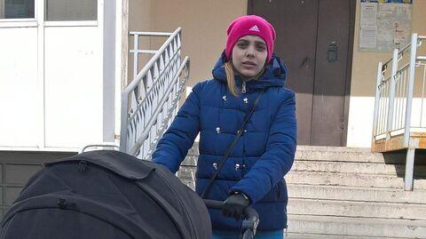Юлия Бильдина вскоре после рождения сына