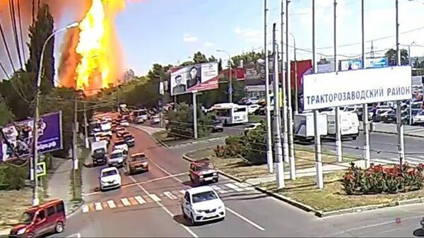 Взрыв на газовой заправке в Волгограде: кадры с камер наблюдения