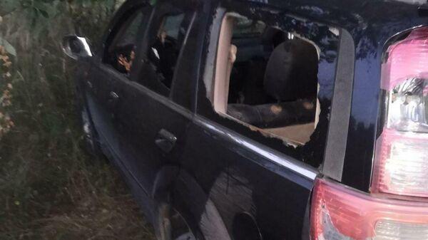 Автомобиль, наехавший на белорусского милиционера в Барановичах