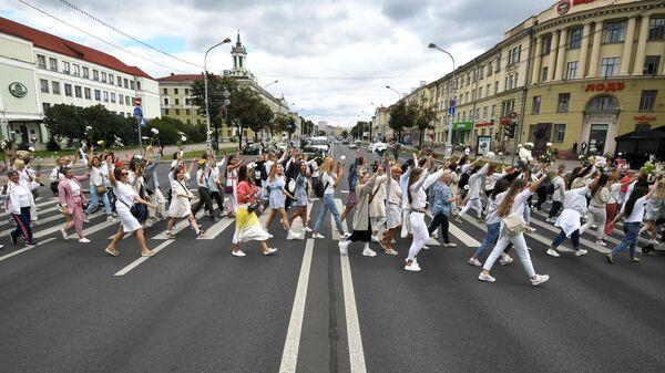 Участники мирной акции протеста