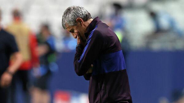 Главный тренер ФК Барселона Кике Сетьен