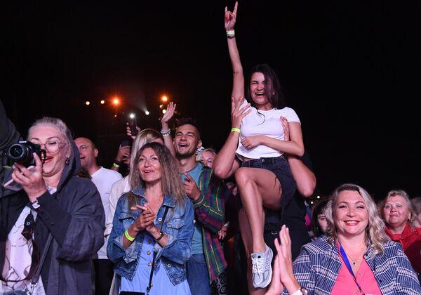 Посетители на Международном музыкальном фестивале Koktebel Jazz Party - 2020 в Крыму