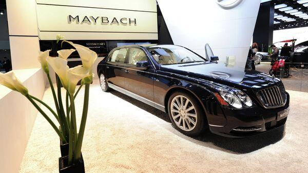 Автомобиль The Maybach 62S на Североамериканском международном автосалоне
