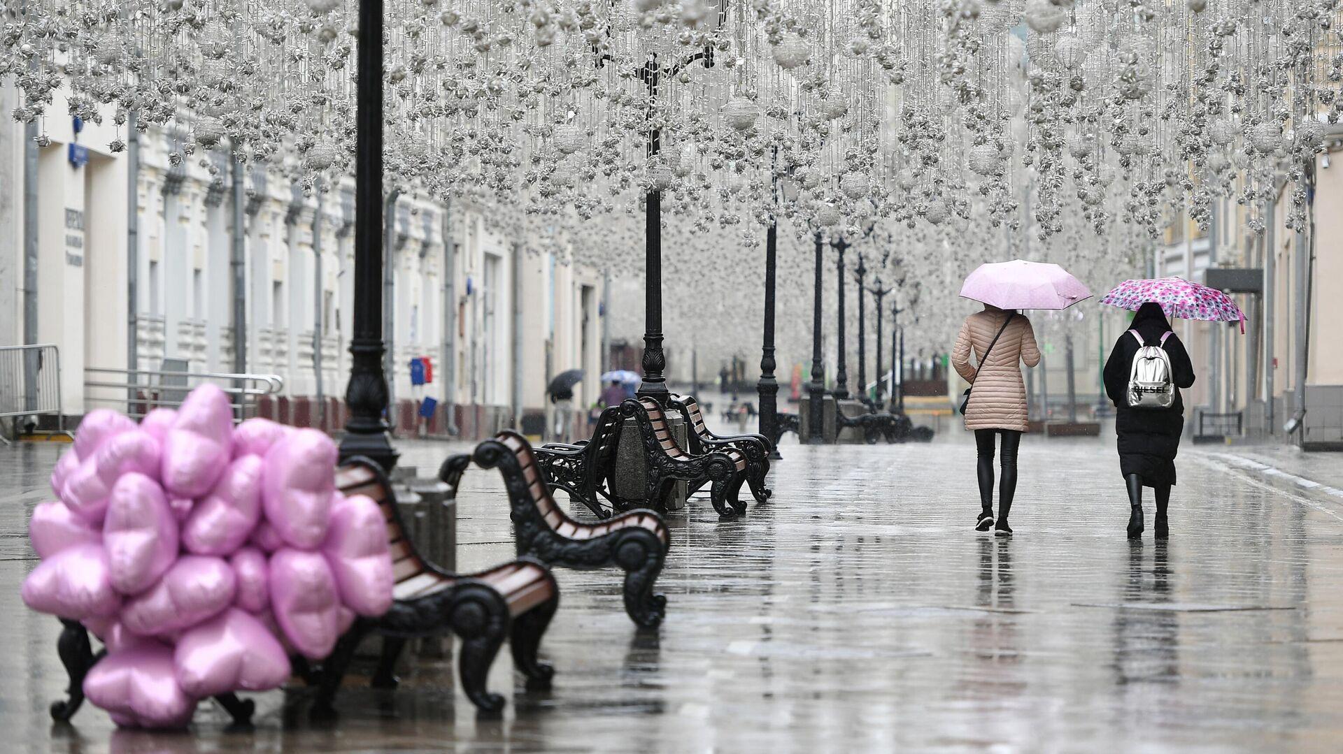 Дождь в Москве - РИА Новости, 1920, 07.11.2020