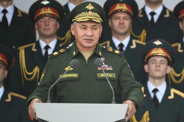 Министр обороны РФ Сергей Шойгу выступает на открытии Международного военно-технического форума Армия-2020 в военно-патриотическом парке Патриот