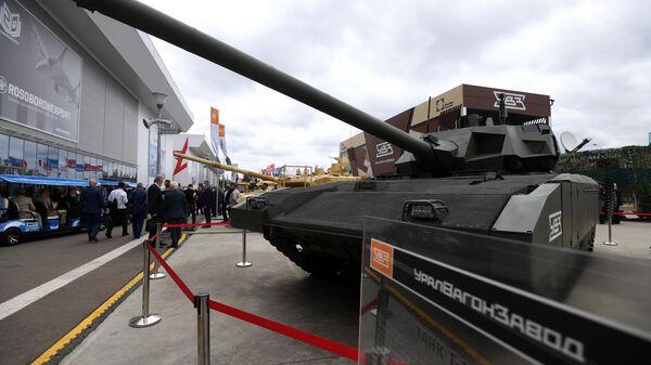 Танк Т-14 Армата на выставке вооружений Международного военно-технического форума Армия-2020