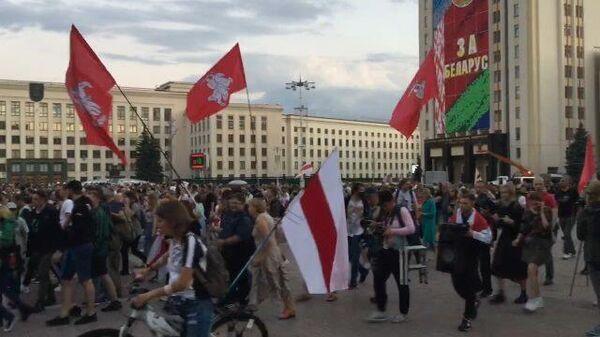 В центре Минска включили громкоговорители