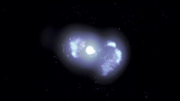 Многочастотное составное VLBA-изображение галактики TXS 0128+554