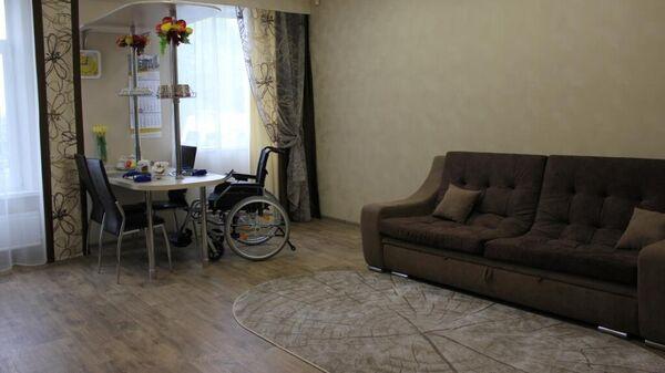 Модульная квартира с тренажерами для детей-инвалидов, открывшаяся в Ачинском реабилитационном центре для детей и подростков с ограниченными возможностями