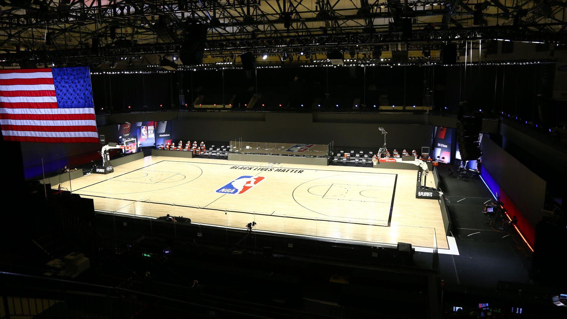 Баскетбольная арена перед матчем НБА - РИА Новости, 1920, 11.09.2020