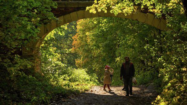 Отдыхающие в парке в Московской области