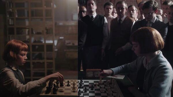 Кадр из сериала Netflix Королевский гамбит