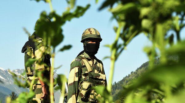 Индийские военнослужащие на границе с Китаем
