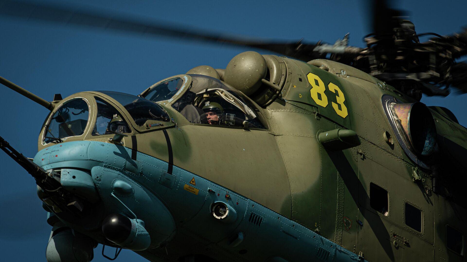 Ударный вертолет Ми-35 армейской авиации ВКС России - РИА Новости, 1920, 23.11.2020
