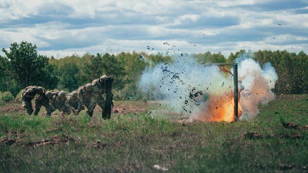 Американские солдаты во время совместных учений войск НАТО в Польше