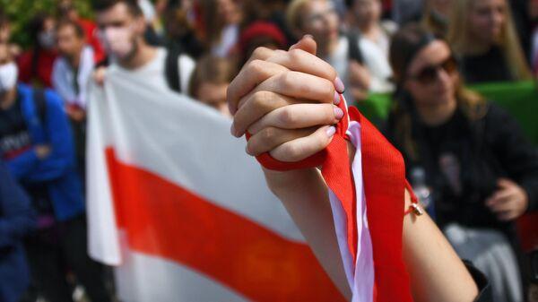 Участники студенческой акции протеста в Минске