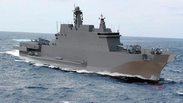 Изображение универсального десантного корабля проекта 23900 Иван Рогов