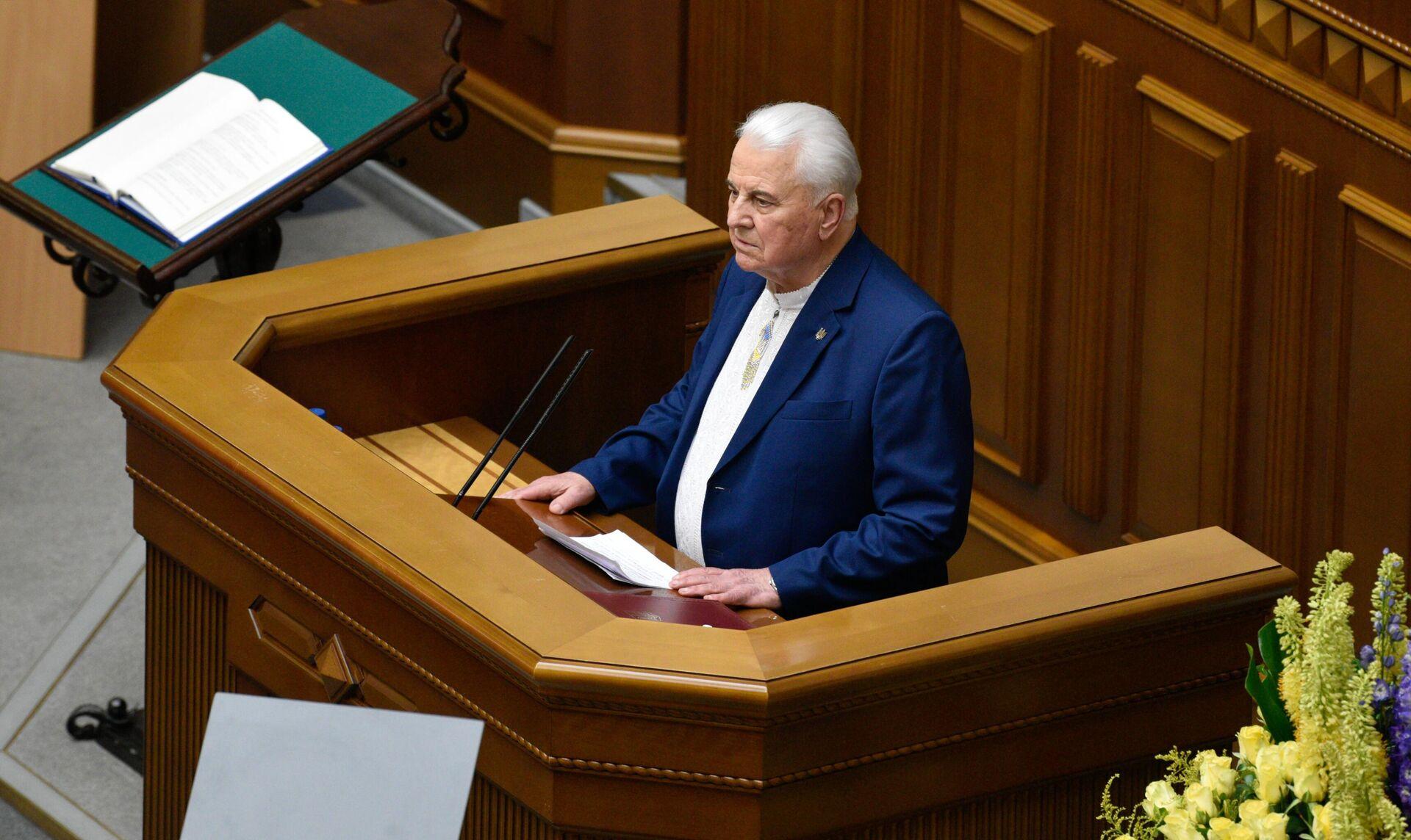 Первый президент Украины Леонид Кравчук - РИА Новости, 1920, 04.09.2020