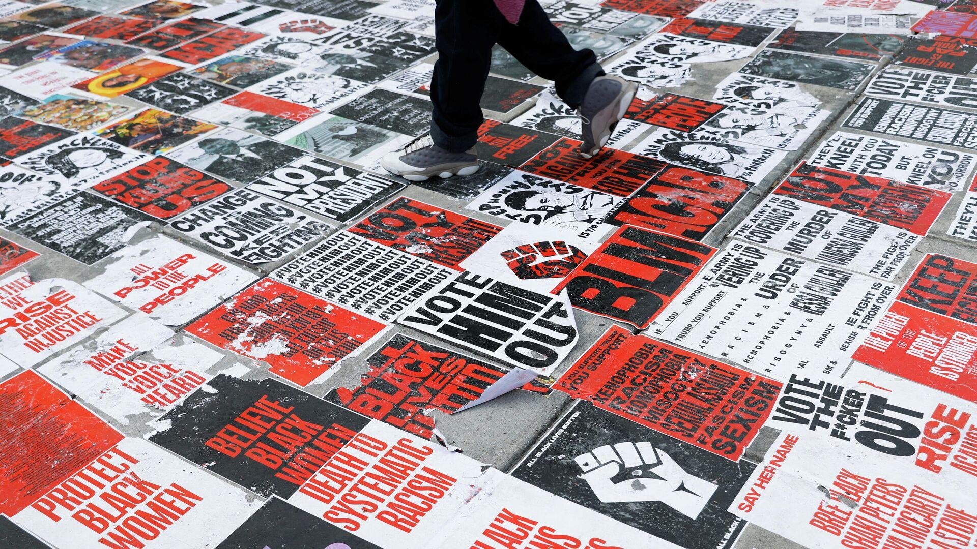 Black Lives Matter Plaza в Вашингтоне - РИА Новости, 1920, 07.09.2020