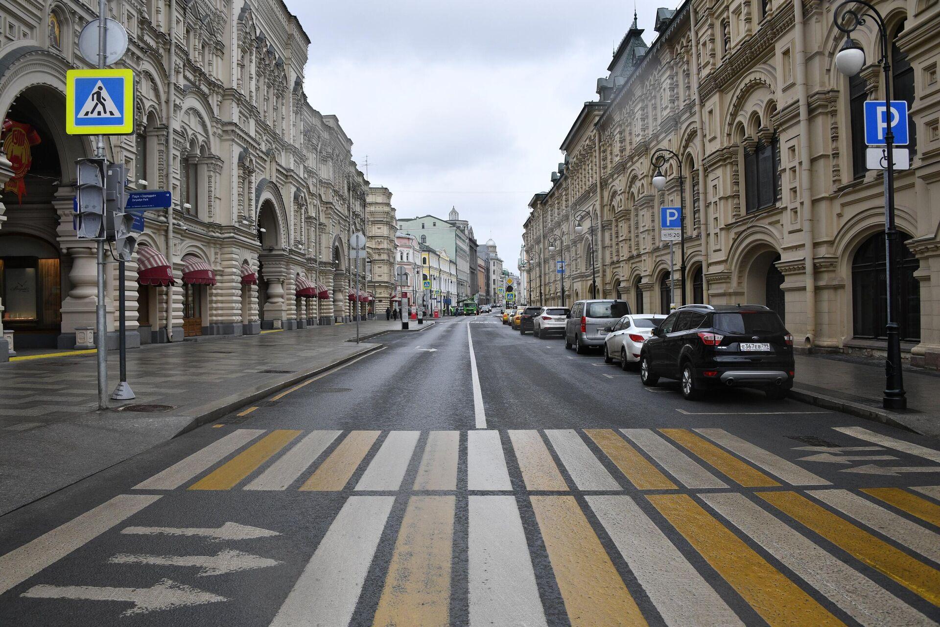 Москва во время режима самоизоляции жителей - РИА Новости, 1920, 11.09.2020