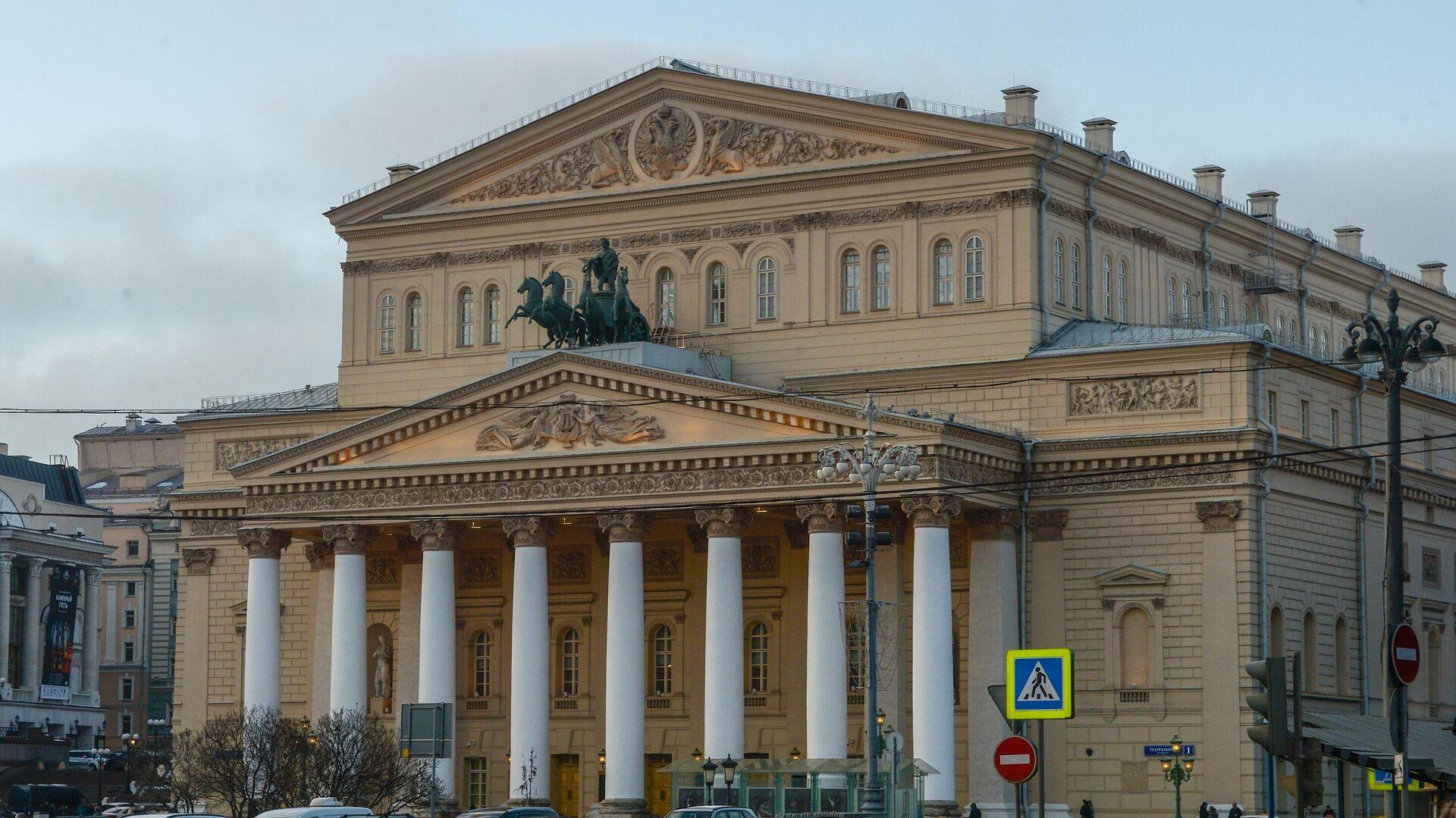 Вид на здание Государственного Академического Большого театра в Москве - РИА Новости, 1920, 22.10.2020
