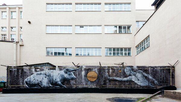 Граффити Стрелы в Екатеринбурге, авторы Никита Nomerz и Стас Bags